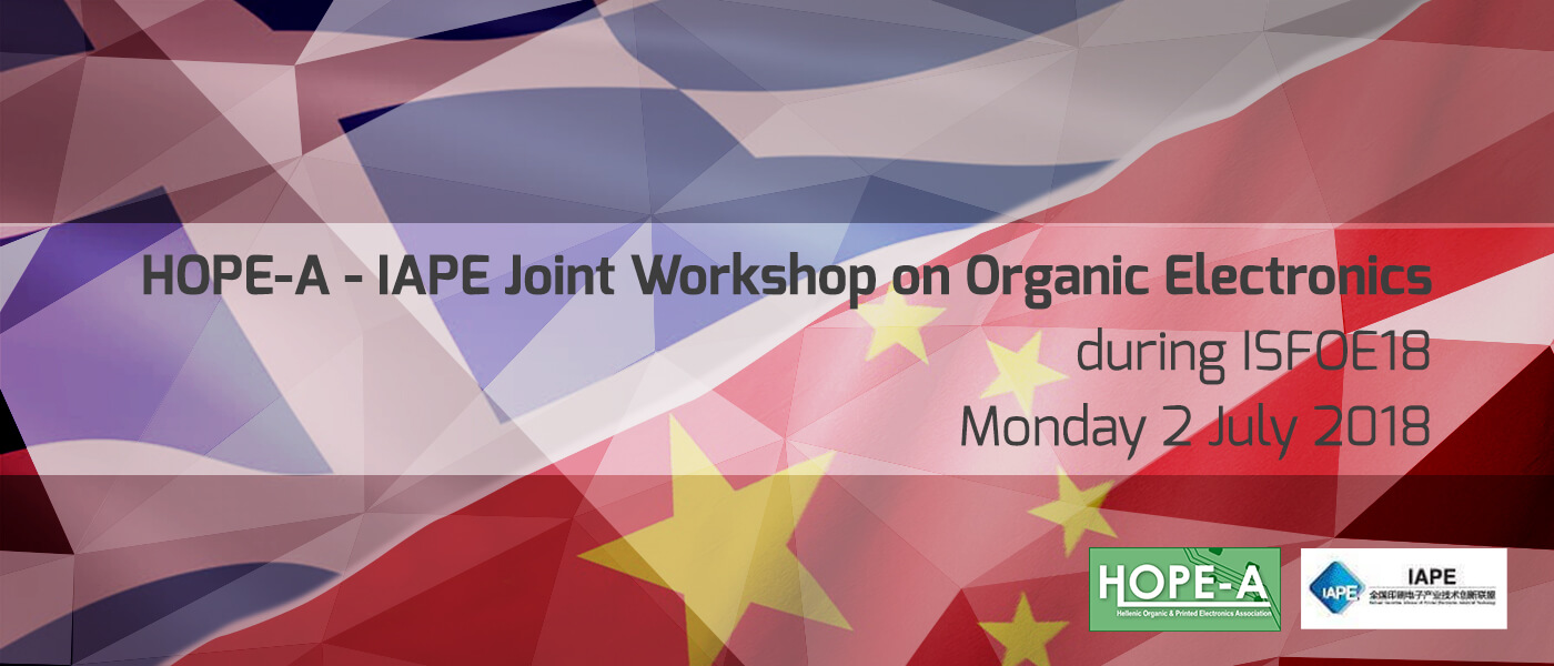 HOPE-A – IAPE Joint Workshop on Organic Electronics