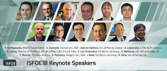 ISFOE18 Keynote Speakers